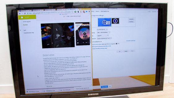 Det er mulig å speile bildet fra PC-en din til Chromecast.