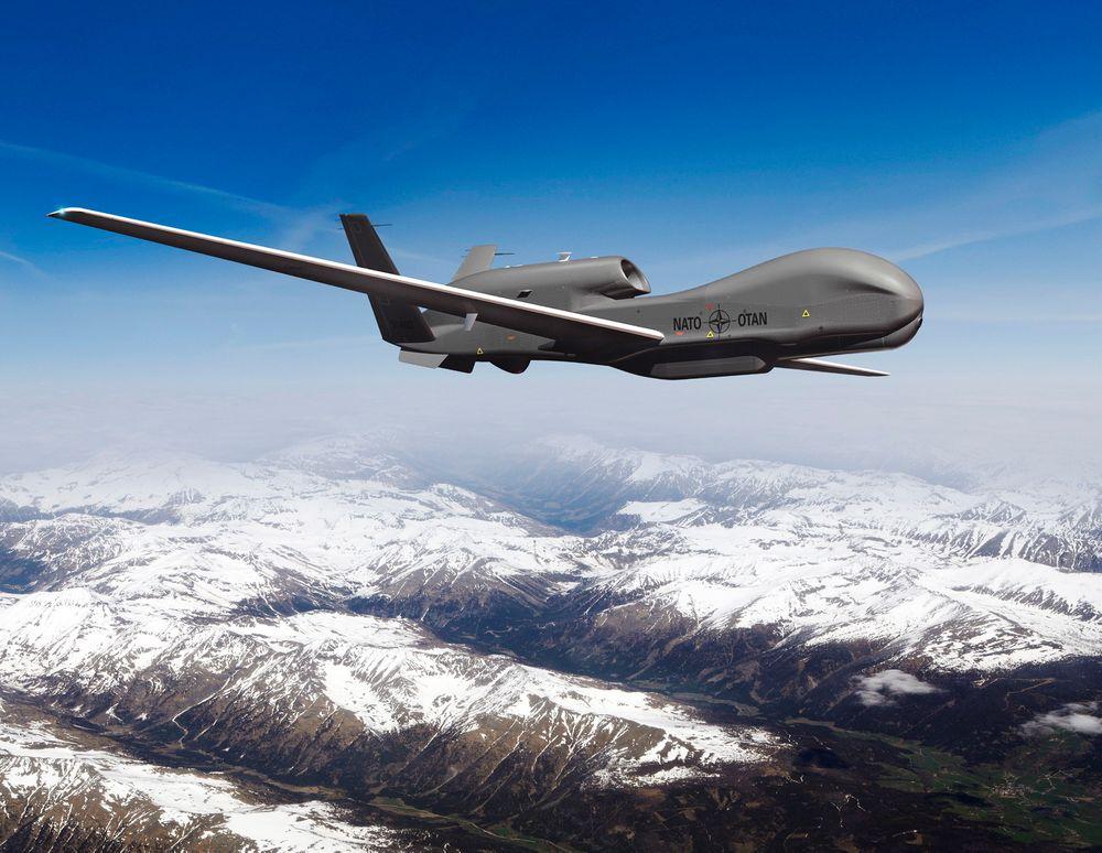 UAV: Spydspissen i Nato AGS er fem ubemannede overvåkingsfly av typen Global Hawk.