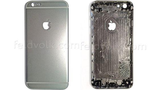 Dette skal være bakdekselet til iPhone 6 med 4,7 tommers skjerm.