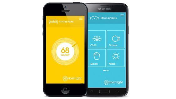 Lyspærene kan styres av iPhone 4 eller nyere, og Android-telefoner med støtte for Bluetooth LE.