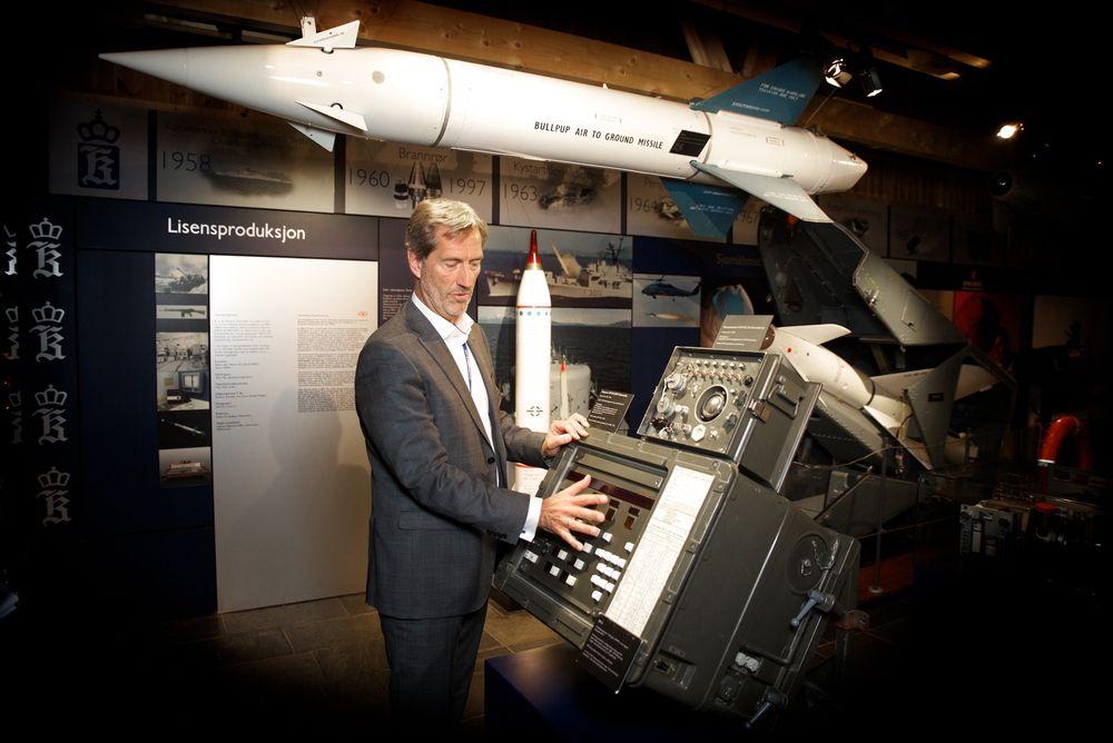 Leder for Kongsberg Gruppen Walter Qvam. Foto: Eirik Helland Urke