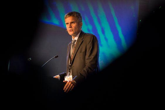 Stavanger  20140825.Statiolsjef Helge Lund under åpningen av OND 2014.  Foto: Carina Johansen  / NTB Scanpix