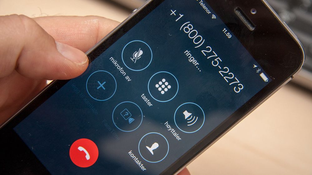 Klikker du på en tel-lenke i andre apper, som Facebook Messenger, settes samtalen opp direkte. Dermed kan du som her bli belastet for en samtale til utlandet om du ikke er forberedt på at telefonen kommer til å gjøre et anrop.
