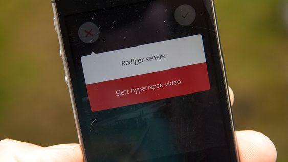 Om du velger å ikke lagre videoen med en gang, kan du gå tilbake og lagre den senere. Praktisk om du vil gjøre flere opptak.