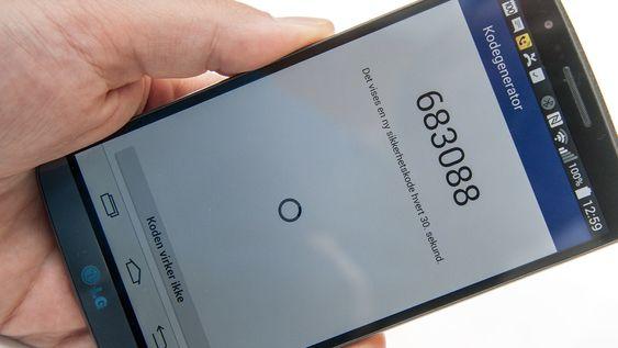 Facebook-appen kan brukes til å generere engangskoder til innlogging på tjenesten.