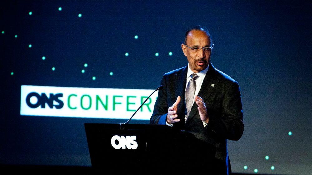 Saudi Aramcos toppsjef, Khalid Al-Falih besøkte ONS i Stavanger.