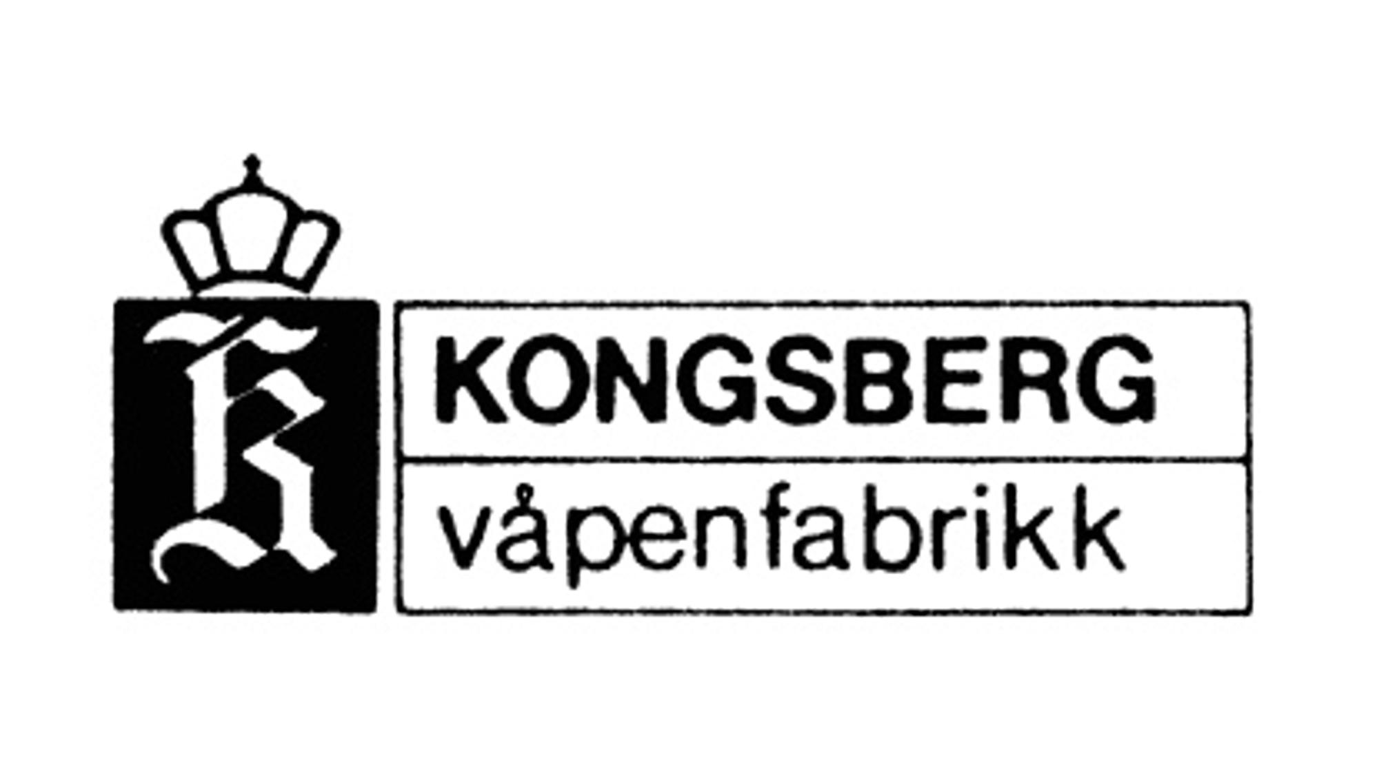 Gammel logo fra Kongsberg våpenfabrikks tids.