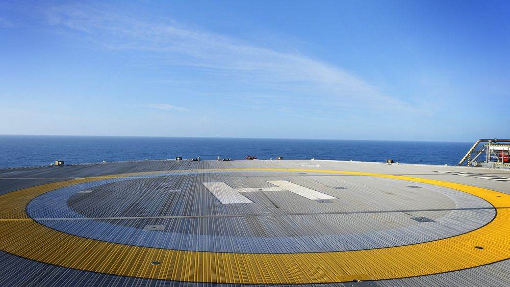 Helikopterdekket på Gudrun-plattformen kom ifølge Statoil fra Kina. Nå har det begynt å slå sprekker.