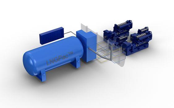 Pakkeløsning: Wärtsiläs nye LNGPac er mer kompakt og har færre bevegelige deler.