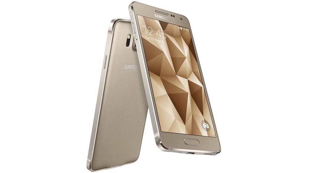 Samsung Galaxy Alpha har ramme i metall.