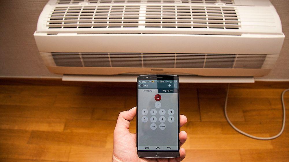 Mobiler med infrarød lysdiode kan brukes til mer enn å zappe mellom kanaler. Her styrer vi en varmepumpe med LG G3.