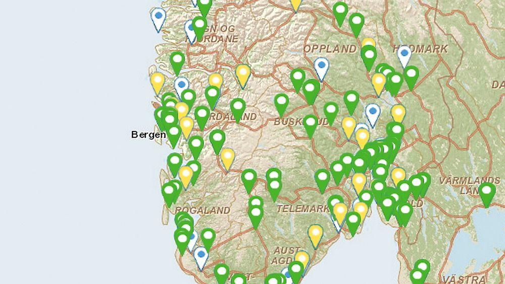 kart over ladestasjoner Her kommer 40 nye hurtigladere for elbil   Tu.no kart over ladestasjoner