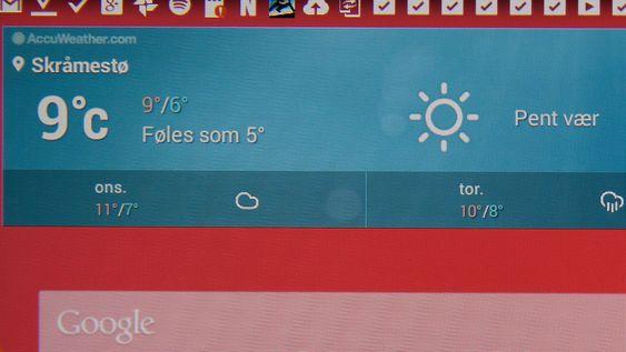 Utsnitt fra skjermen.