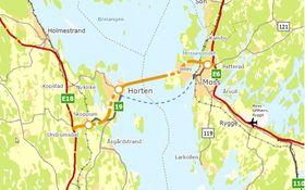 En bru mellom Moss og Horten vil kunne gi størst samfunnsnytte og gjøre at også syklister kan bruke forbindelsen.