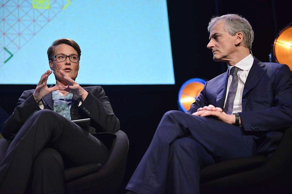 Tine Sundtoft og Jonas Gahr Støre er ganske enige om elbilpolitikken.