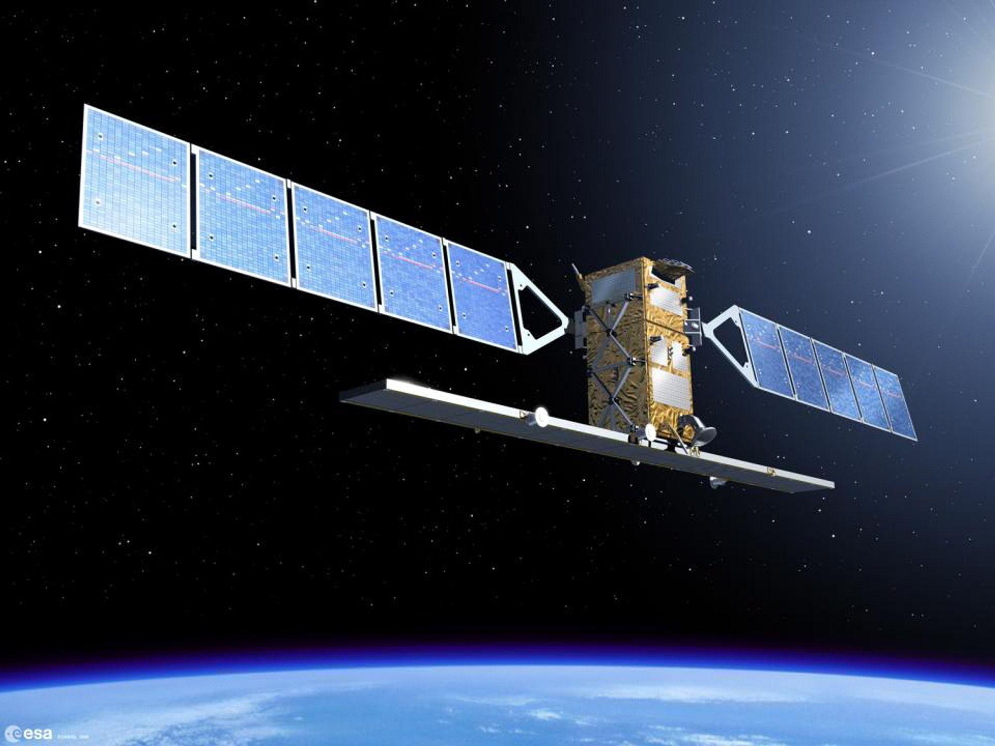 Romradar: Den første satellitten i EUs miljøovervåkningsprogram Copernicus, Sentinel 1a, er allerede skutt opp og produserer data som Meteorologisk Institutt har begynt å bruke til å varsle is i Barentshavet.