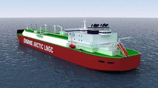 Daewoo skal bygge verdens største isbrytende tankskip