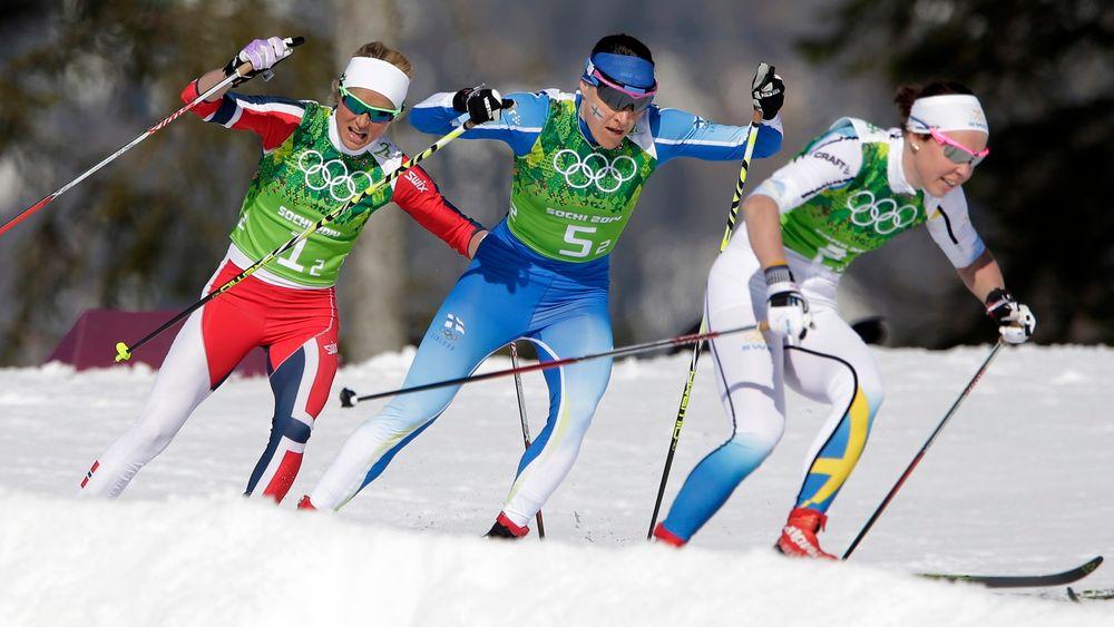 Aldri igjen: Det var et massivt sjokk da det norske kvinnelandslaget ikke maktet å vinne stafetten under OL i Sotsji. Smørebommen som fikk skylden kan kanskje unngås ved å ta i bruk superdatakraft for å gjøre beregningene.