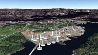Her vil de etablere Norges første «havvindfabrikk»