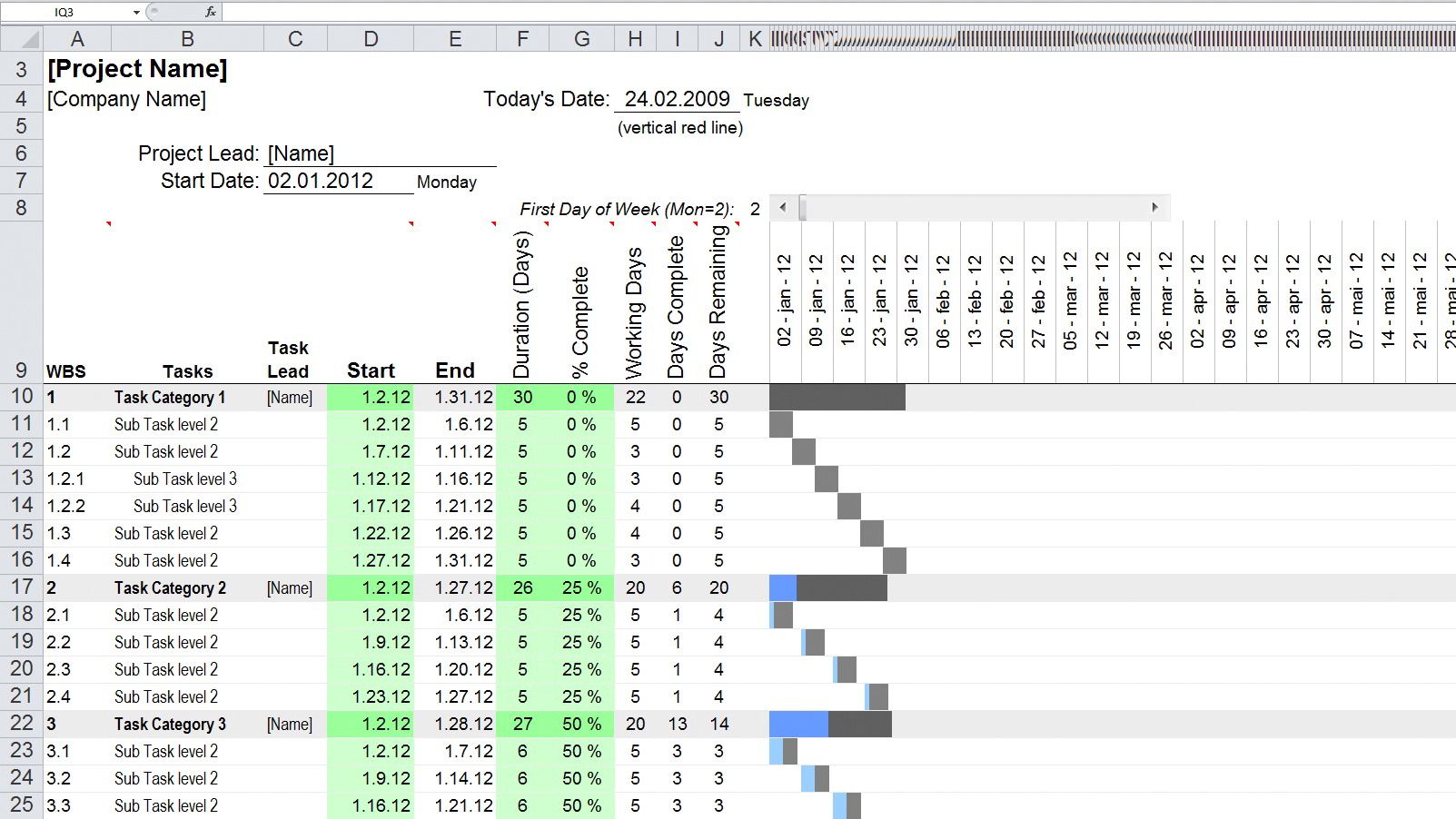 Excel mal oppussing