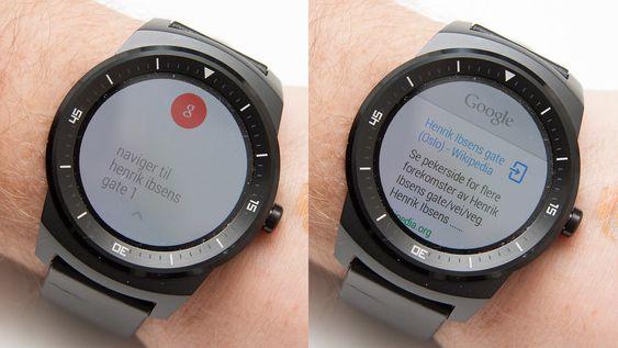 LG G Watch R forstår hva vi sier, men ikke hva den skal gjøre med informasjonen. Om du vil bruke talekommandoer må telefonen settes til engelsk.