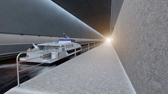 Hurtiggående katamaraner har ofte problemer ved Stad, men vil ikke behøve å innstille når tunnelen står klar.