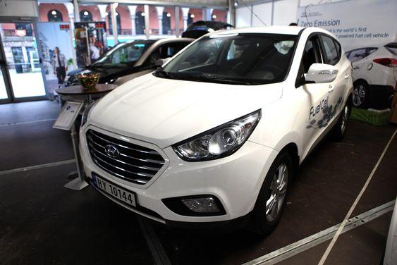 Hydrogenbilen til Hyundai har en rekkevidde på 70 mil mellom hver fylling.