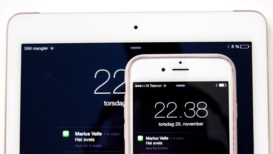 Du kan motta SMS på iPad og Mac så lenge du har aktivert denne funksjonen.