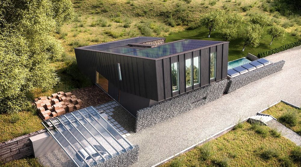 Etterspørselen etter tynne isolasjonsplater blir stadig større ettersom flere ønsker å bygge plusshus. Illustrasjonsbilde: Multikomforthuset i Larvik.