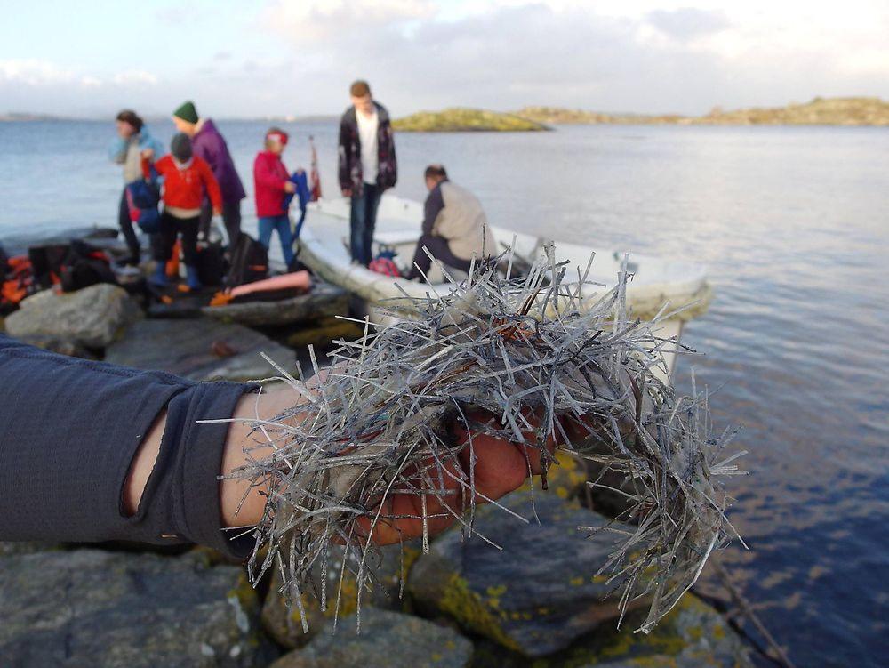 Naturvernforbundet frykter at mange dyreliv kan gå tapt når fugl og fisk får i seg plastfiberen som lekker ut i sjøen.