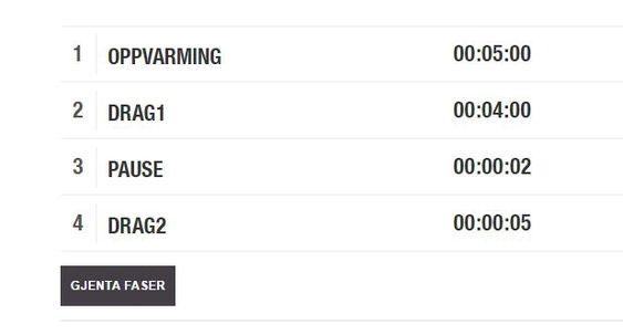 I den nye webloggen til Polar kan du sette opp intervalløkter med ulik lengde på dragene.