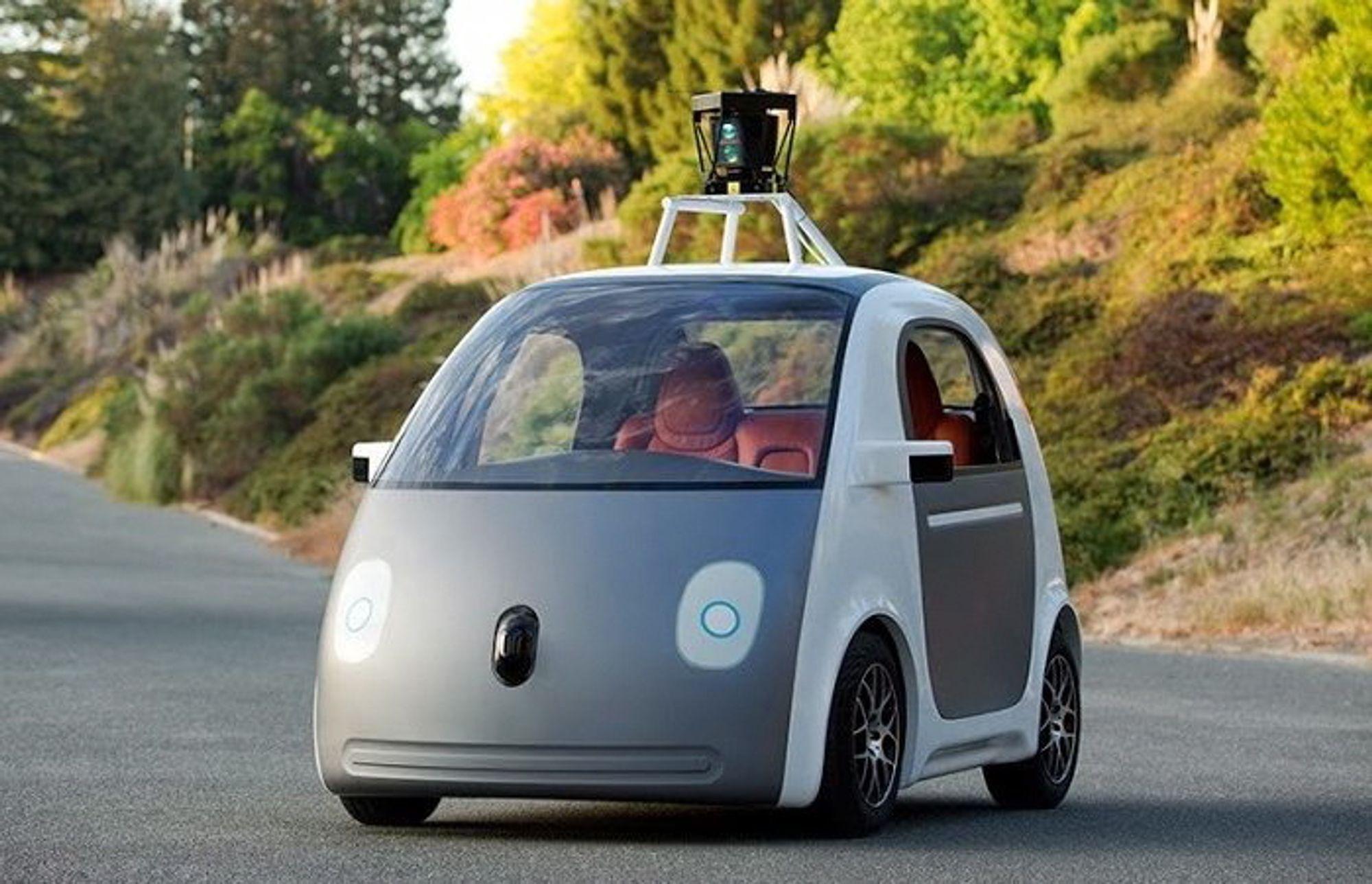 Google har produsert ulike prototyper av selvkjørende biler som om kort tid vil testes ut på veiene i California.