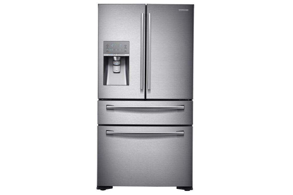 """Amerikanskkoreansk: Dette """"amerikanske kjøleskapet"""" er laget i korea av Samsung."""