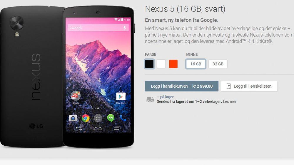 Nå kan du kjøpe ny mobil i Google Play.