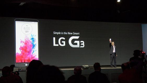 LG lanserte sin nye toppmodell G3 i London tirsdag.