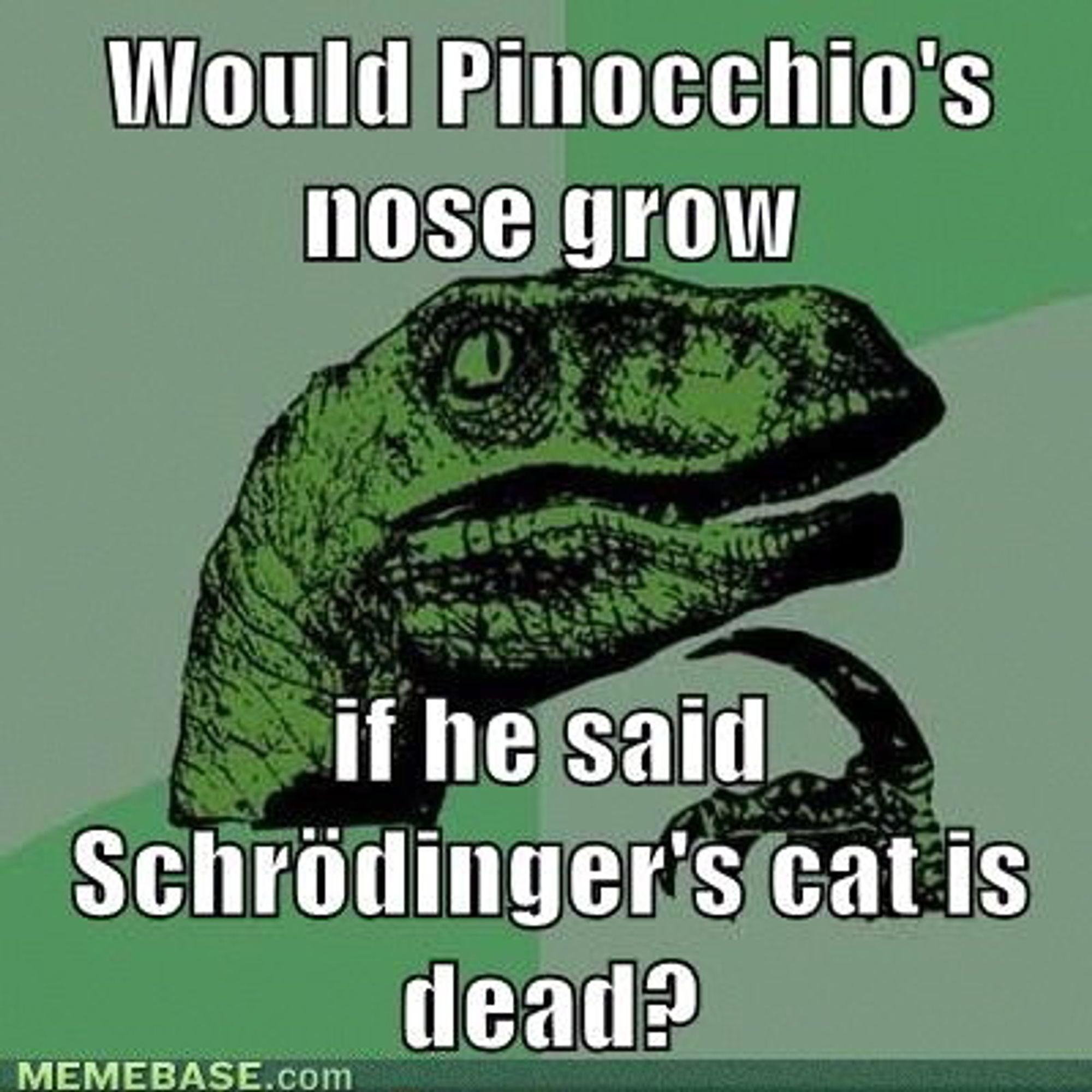 """Kvantemekanikk er en hjernevrider og er gjenstand for mange humoristiske """"memes"""", spesielt rundt Schrödingers katt."""