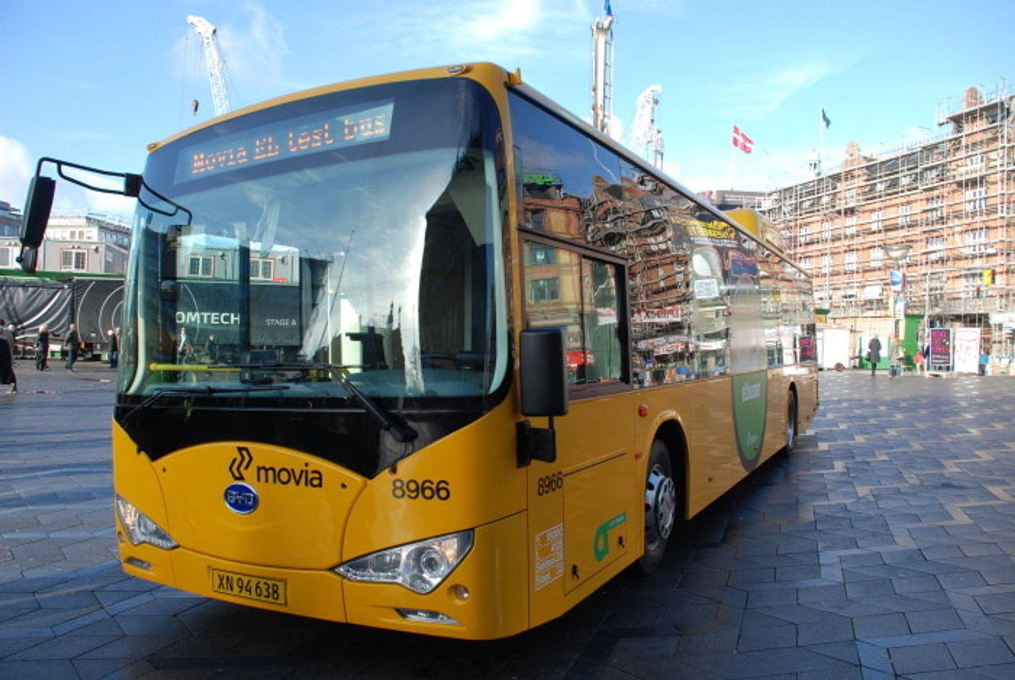 Siden januar har to BYD batteribusser gått i rutetrafikk i København. Testprosjektet framviser så langt lovende resultater, ifølge trafikkselskapet Movia.