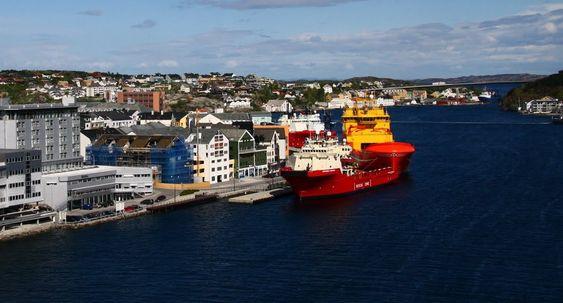 Sot og støy: Hvert døgn ligger tre-fire forsyningsskip til kai i Kristiansund. Det betyr mye lokal forurensning og støy. Med landstrøm blir problemet borte.