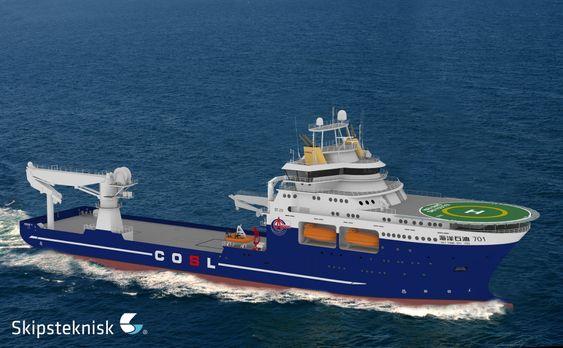 To like: COSL har bestilt to avanserte offshorefartøy med norsk design og mye norsk utstyr ved et kinesisk verft.