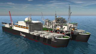 Pioneering Spirit har løftet 44.000 tonn. Snart er den klar for å fjerne Yme-plattformen