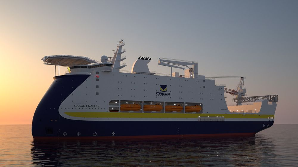 Casco Enabler: Boligskip med lugarplass til 800 mennesker.