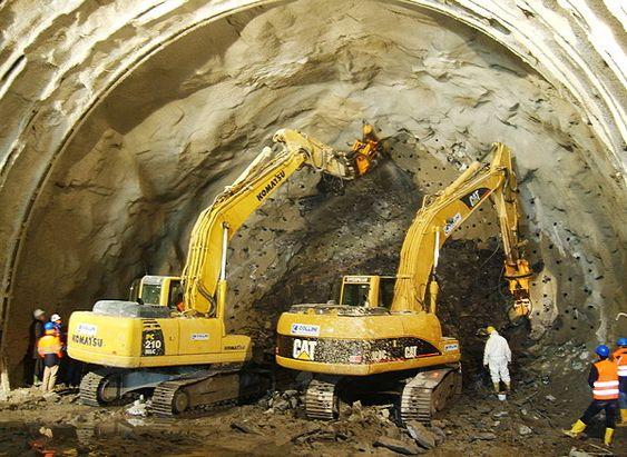 På sensitive steder der lyd og vibrasjoner kan skape forstyrrelser har man brukt mekanisk bryting for å bygge tunneler.