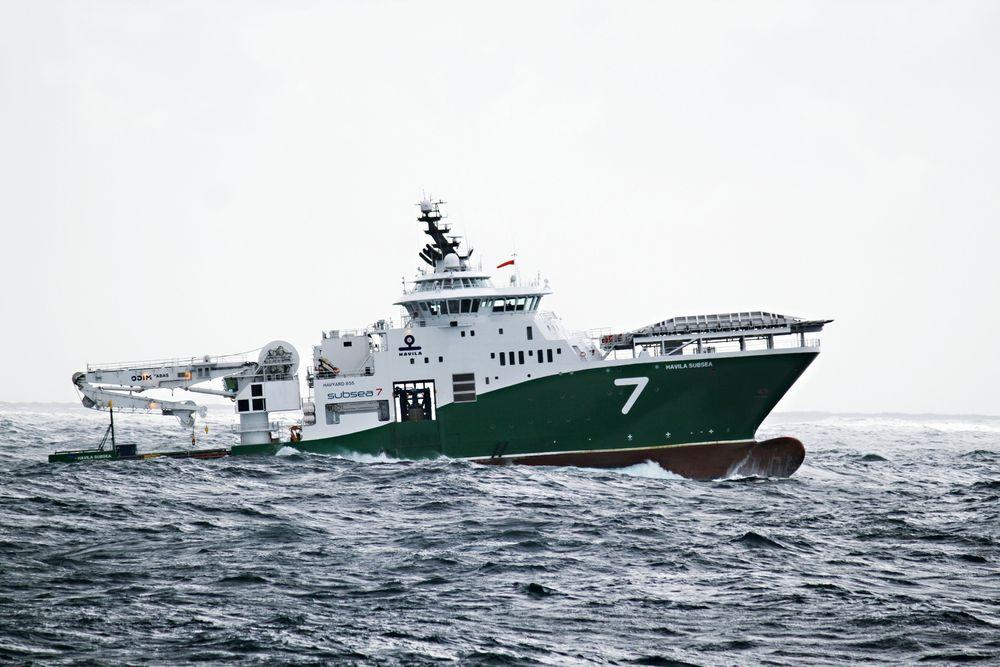 Stormer fram: Havyard Group har tjent penger de siste årene takket være vellykkede design og lønnsom skipsbygging. Havila Subsea er bygget for Havila Shipping ved Havyard Leirvik med Havyard design.