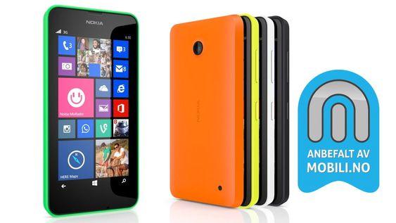 Nokia Lumia 630 er en billig smarttelefon vi gjerne anbefaler.