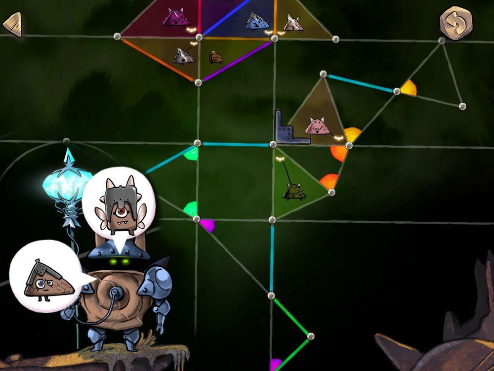 Gjennom logiske slutninger skal barn lære seg om geometriske figurer.