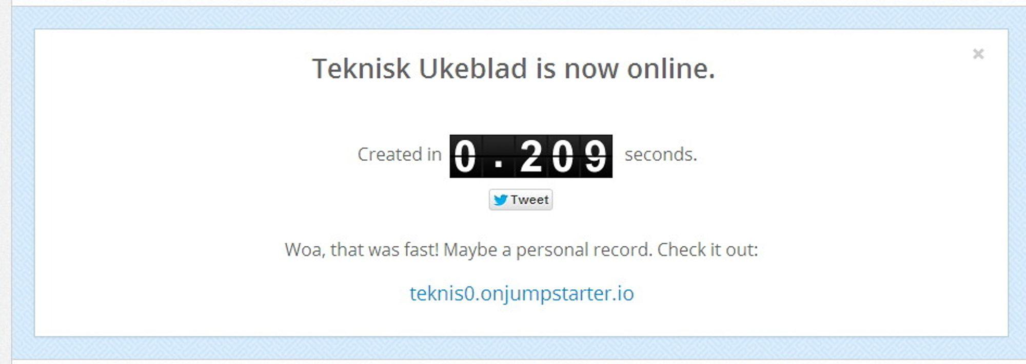 Jumpstarter har som mål å gjøre det  enkelt å sette opp server for en nettside.