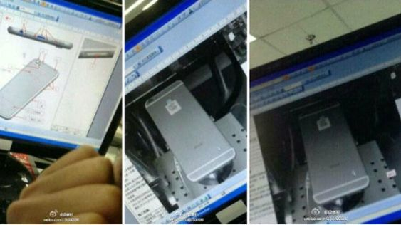 Dette bildet påstås å vise iPhone 6. Det er ikke vanskelig å se for seg at det ikke behøver å stemme.