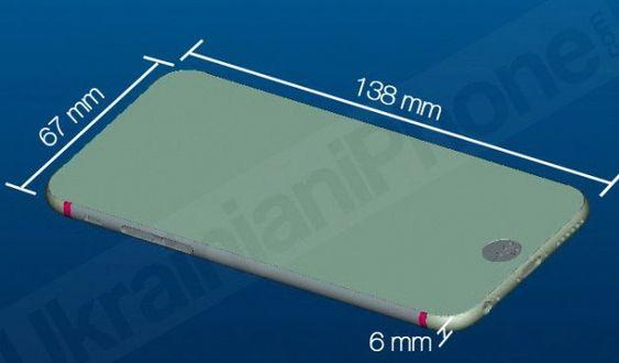 Dette sies å være en skisse av iPhone 6 med 4,7 tommers skjerm.