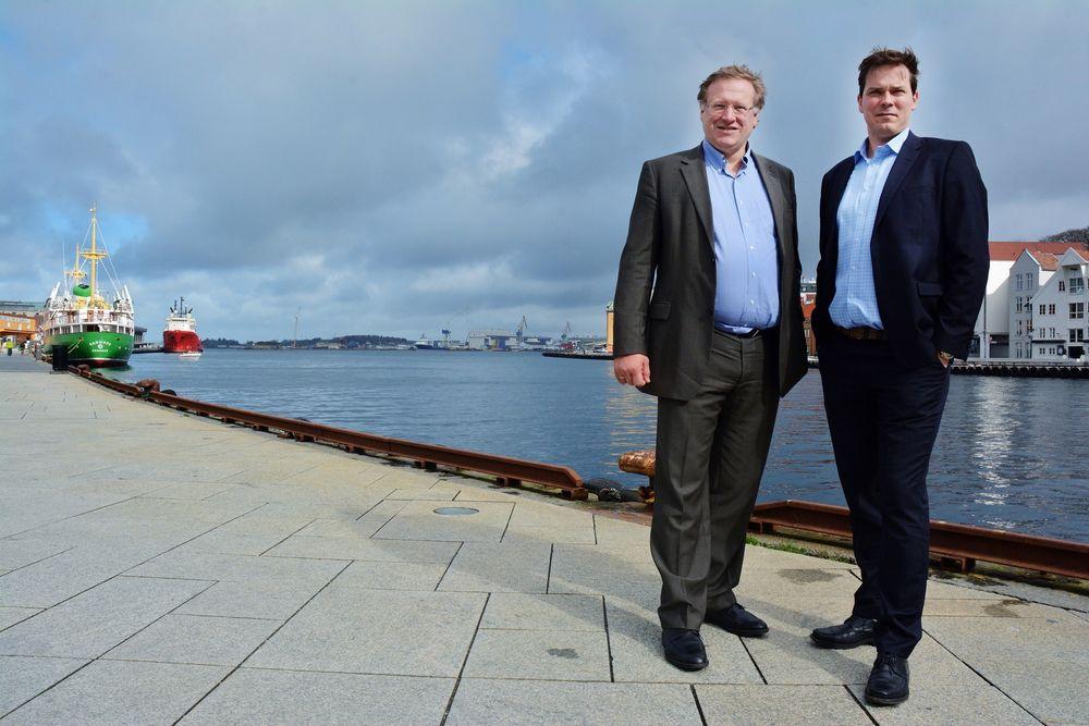 Oljemesse: ONS-general Leif Johan Sevland og Jon Are Rørtveit er klare for oljemesse i Stavanger i august. Messearealet blir i år større enn noen gang, med flere nye haller pluss et hotell å boltre seg i.