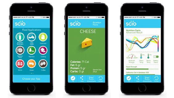 Den medfølgende appen har forskjellige programmer for måling av bestemte stoffer.